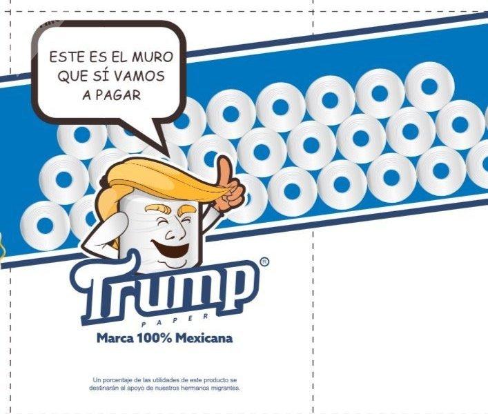Papier toilette «Trump»: de la douceur «sans frontières»