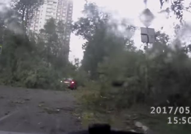 La tempête la plus violente de l'histoire de Moscou