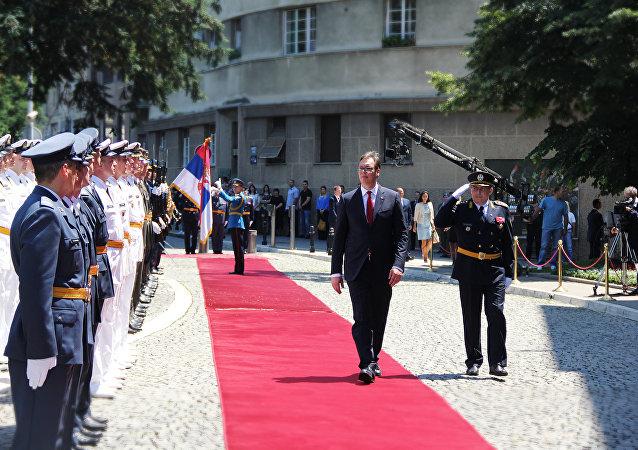 Cérémonie de prestation de serment du Président serbe Aleksandar Vucic