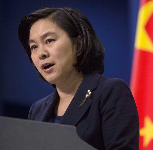 Hua Chunying, porte-parole du ministère chinois des Affaires étrangères