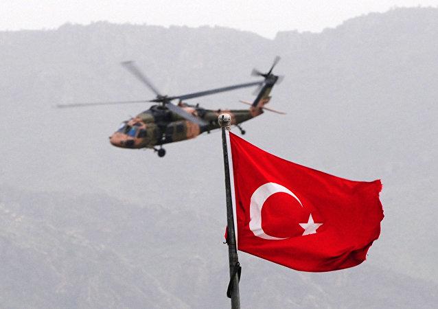 Un hélicoptère des Forces armées turques