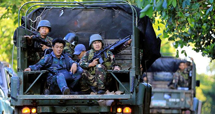 Les militaires philippins à Marawi