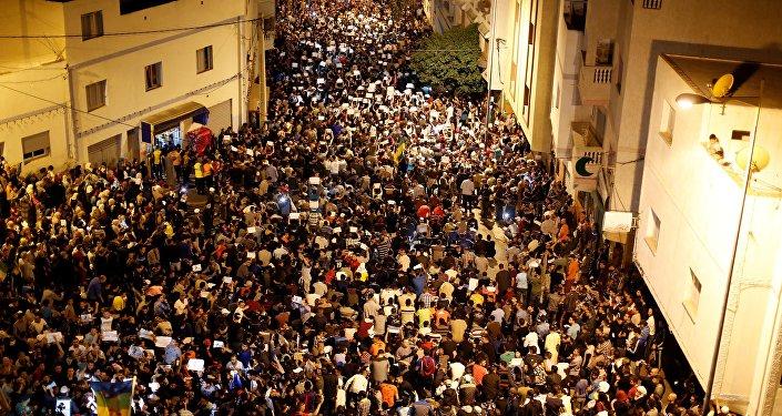 Manifestation au Maroc