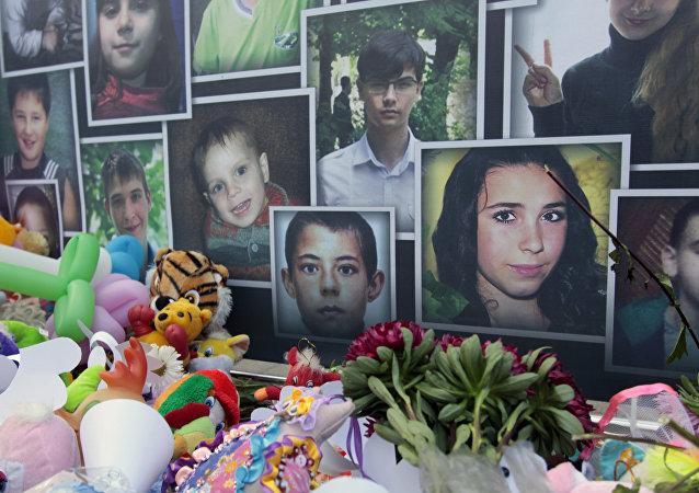 Hommage aux enfants tués dans le Donbass
