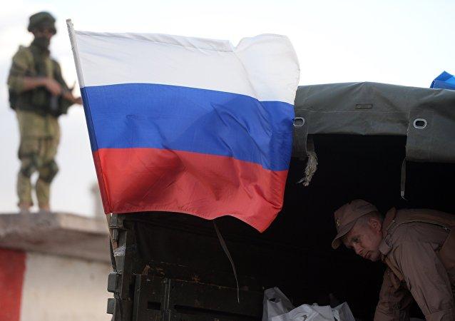 Un soldat russe en Syrie. Image d'illustration