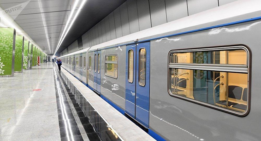 Une rame du métro