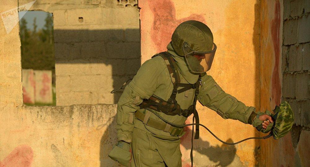 Centre international pour l'action antimines des Forces armées russes à Homs