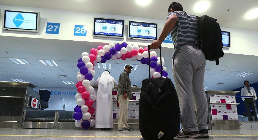 Enregistrement à l'aéroport de Dubaï