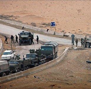 L'armée syrienne près de Palmyre