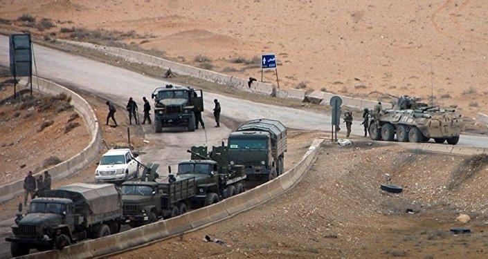 L'armée syrienne près de Palmyre. Archive photo