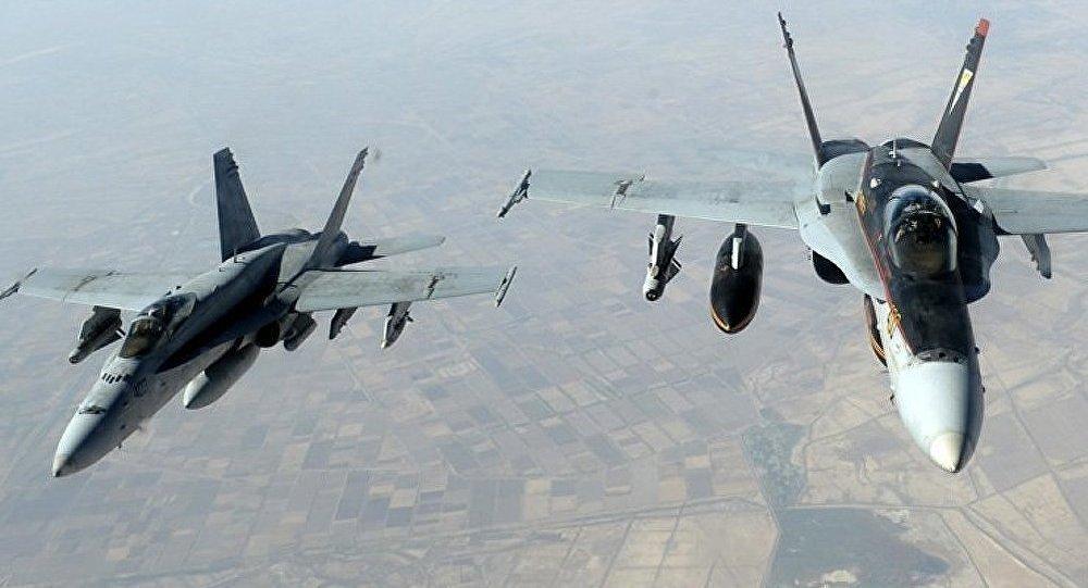 Les avions de la coalition internationale