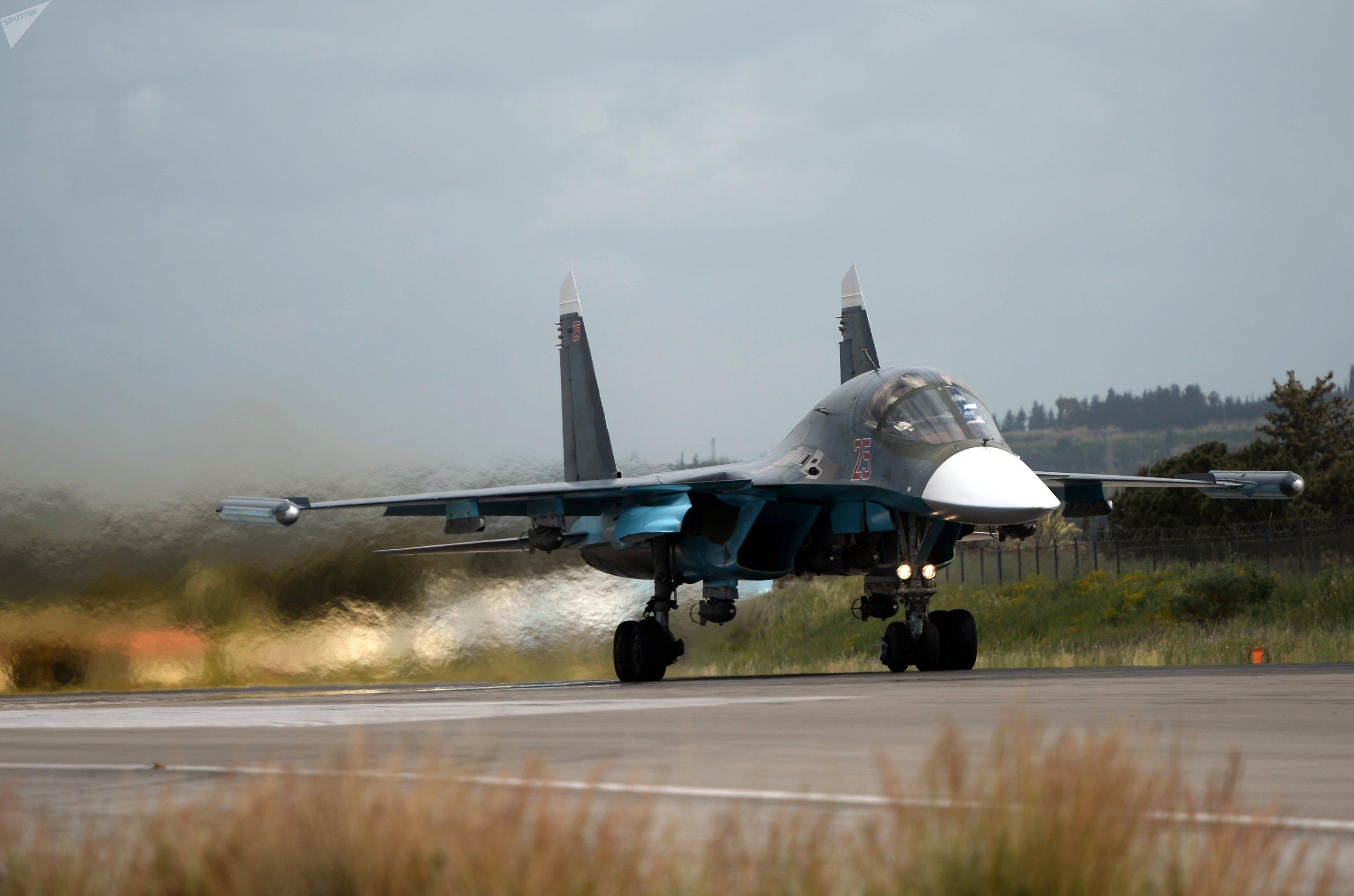 Un Su-34 russe en Syrie