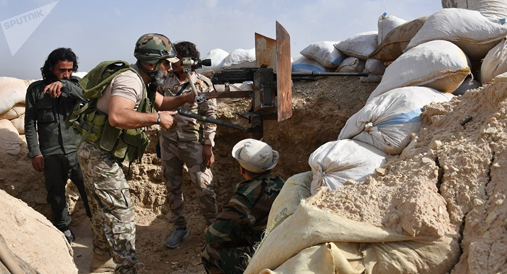 Militaires syriens près de Deir Ezzor