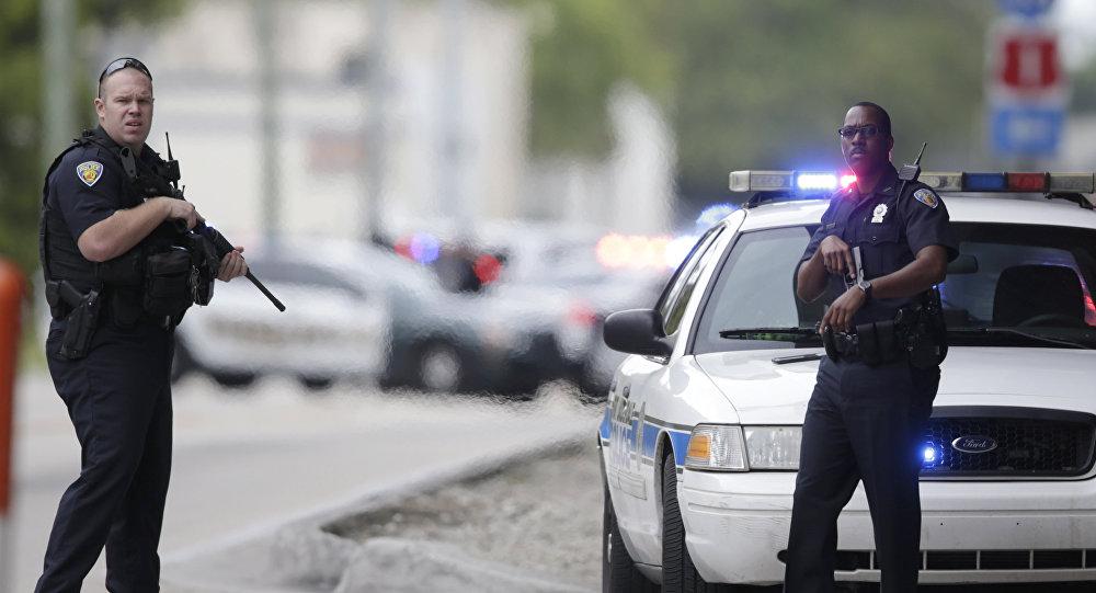 Policiers américains. Archive photo
