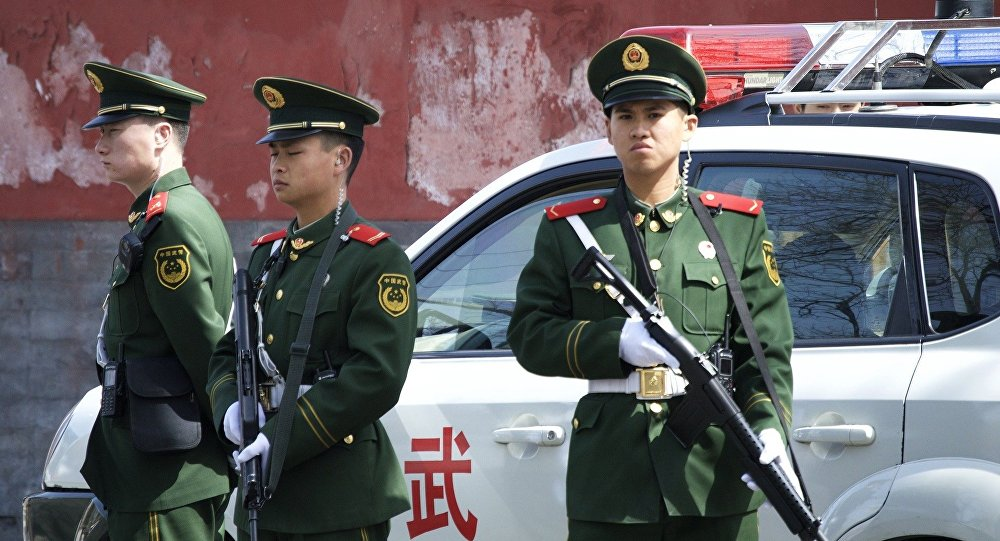police, Chine