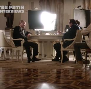 Vladimir Poutine et Oliver Stone
