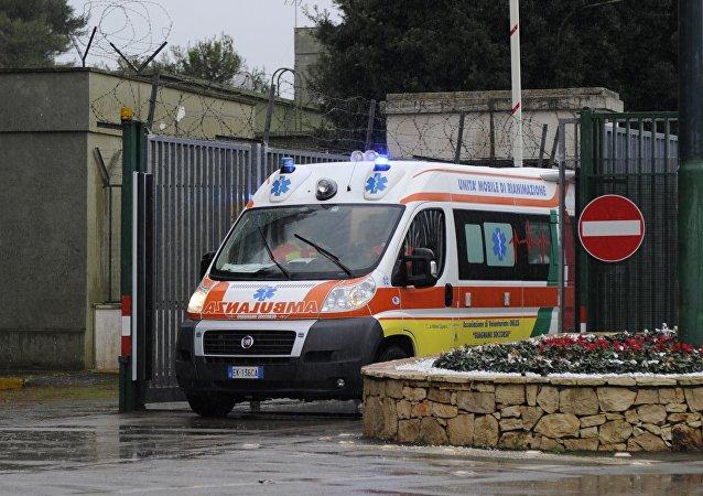 Une ambulance italienne