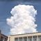 Une tour-nuage gigantesque s'abat sur Novossibirsk