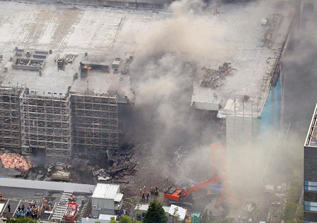 Violent incendie dans un entrepôt à Tokyo