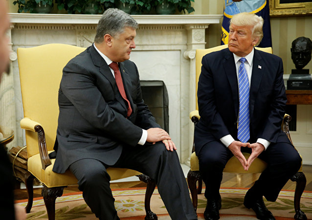 Le président ukrainien se rencontre son homologue américain au Bureau ovale dans la Maison Blanche à Washington, aux États-Unis, le 20 juin 2017