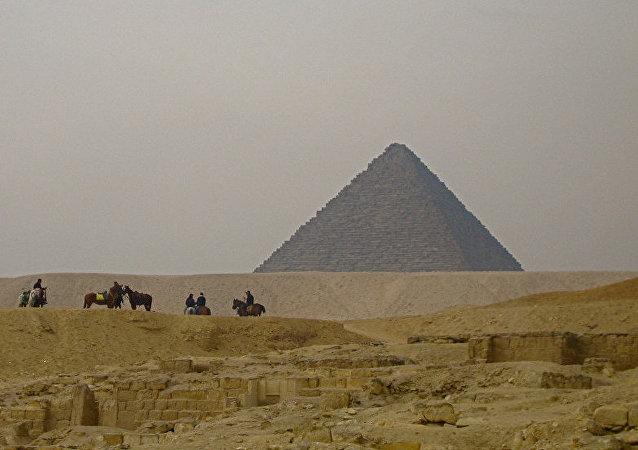 Une pyramide égyptienne