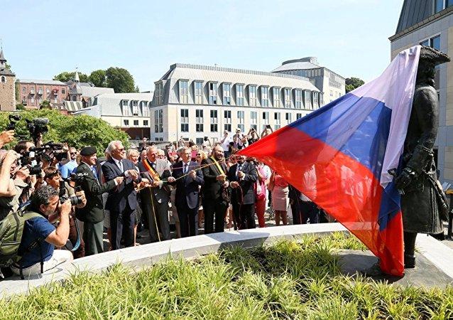 Un monument en l'honneur de Pierre le Grand inauguré à Liège