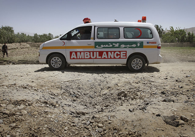 Ambulance in Afghanistan. (File)