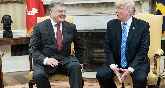 Rencontre entre Donald Trump et son homologue ukrainien Piotr Porochenko