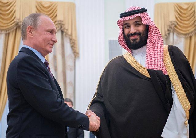 Vladimir Poutine et Mohammed ben Salmane Al Saoud