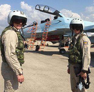 Les pilotes russes sur la base aérienne de Hmeimim en Syrie