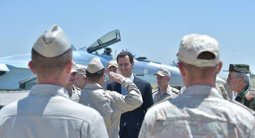 Bachar el-Assad à Hmeimim