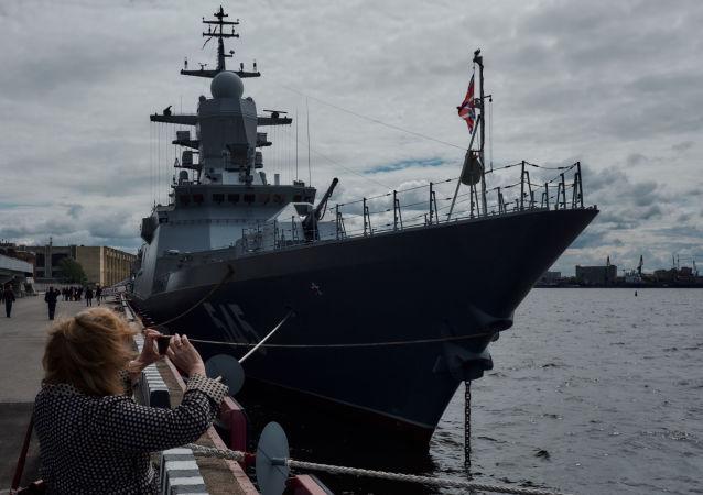 L'ouverture du Salon naval international à Saint-Pétersbourg
