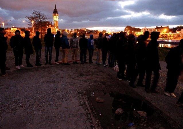 Distribution de repas à Calais (archives)