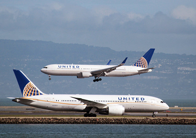 Avions de United Airlines. Photo d'archive