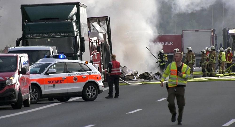 Accident routier près de Münchberg