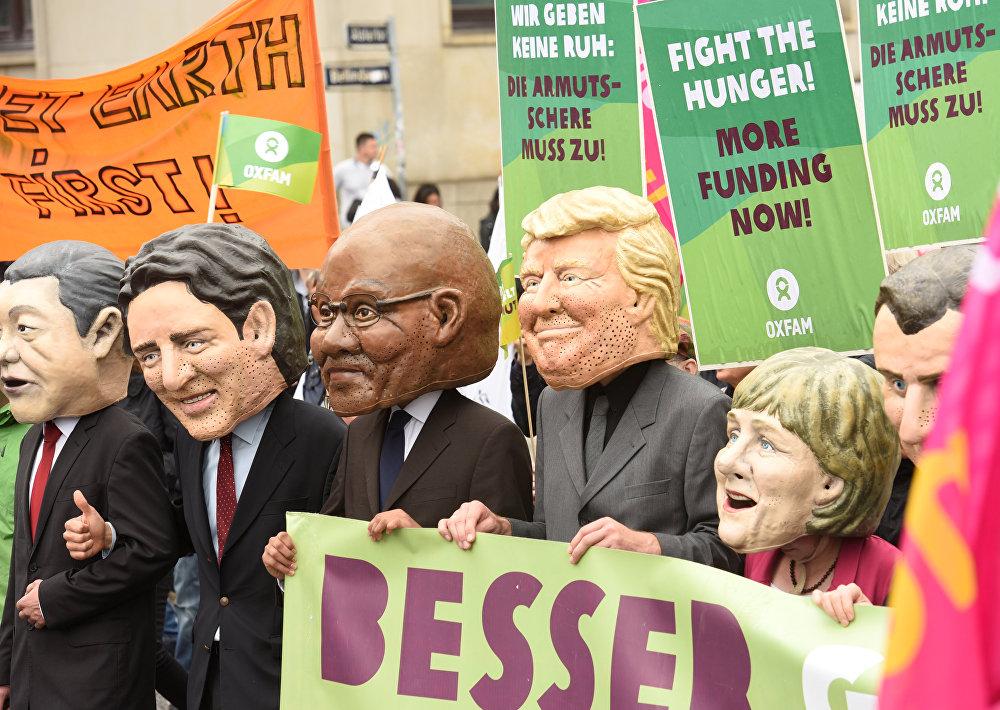 Proteste gegen G20-Gipfel in Hamburg