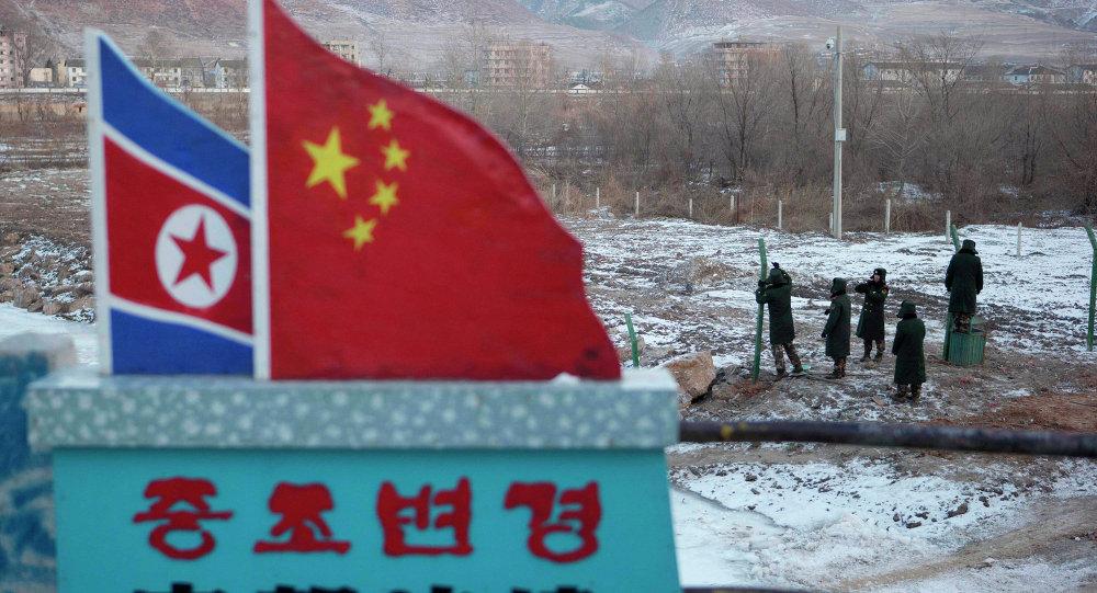 La fronitère entre la Chine et la Corée du Nord