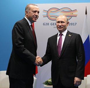 Recep Tayyip Erdogan und Wladimir Putin bei G20-Gipfel in Hamburg