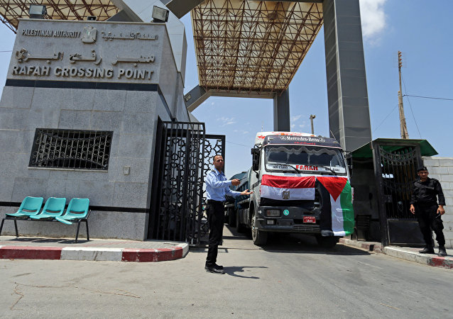 le passage frontalier de Rafah entre l'Égypte et la bande de Gaza