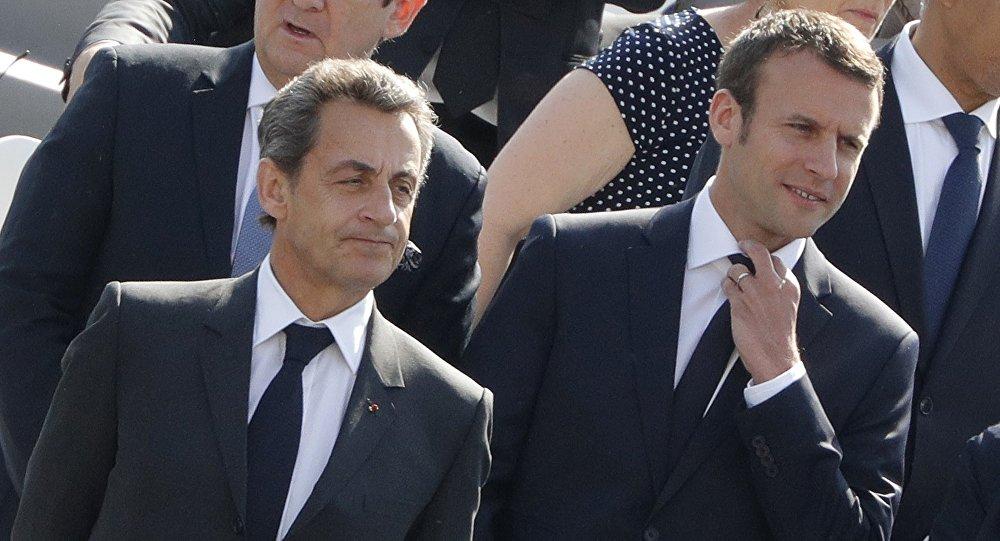 Emmanuel Macron et Nicolas Sarkozy. Archive photo