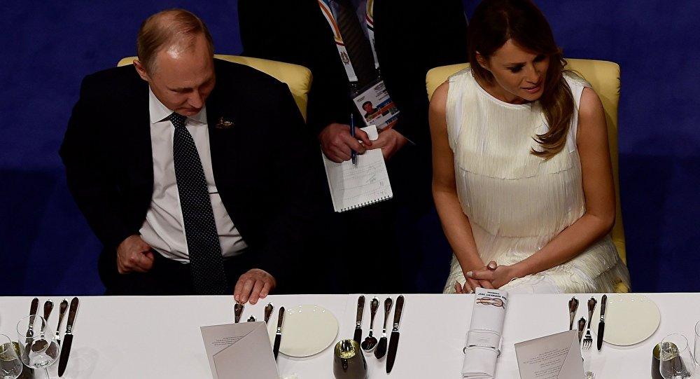 Vladimir Poutine et Melania Trump