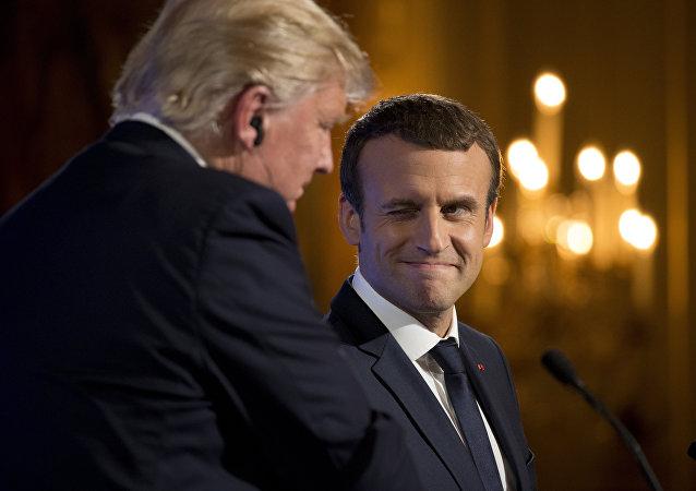 Donald Trump et Emmanuel Macron à Paris