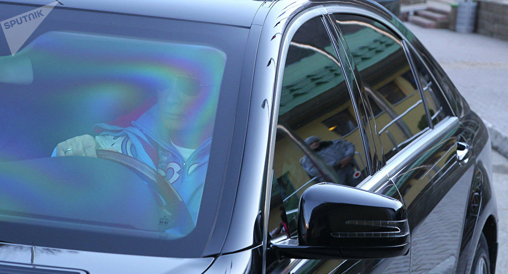 Vladimir Poutine dans sa voiture