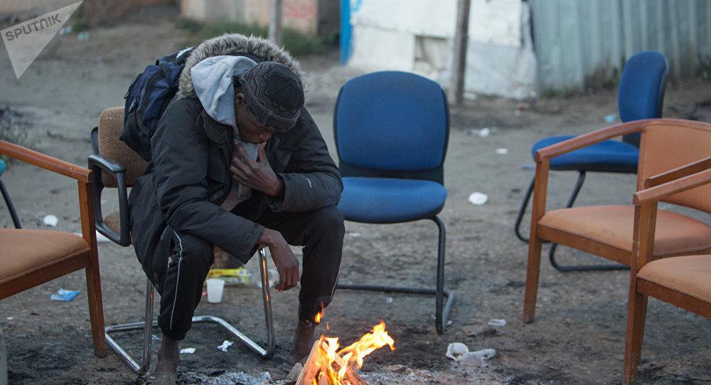 Un migrants à Calais
