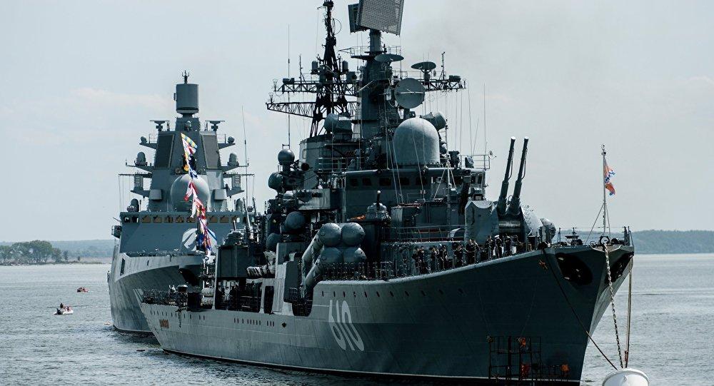 Le destroyer Nastoïtchivy à Baltiïsk, région de Kaliningrad