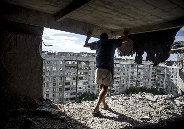 Une maison de Lougansk