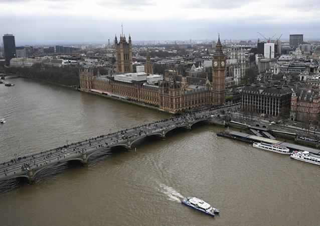 Le Palais de Westminster abritant les deux chambres du parlement britannique