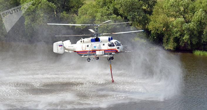 Un hélicoptère Ka-32 utilisé par les services d'urgence russes