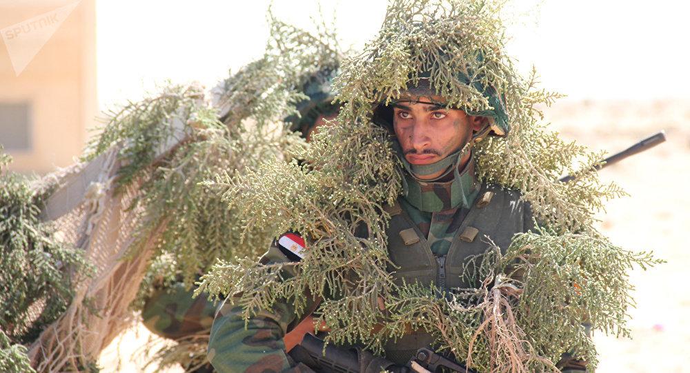 Militaire égyptien. Archive photo