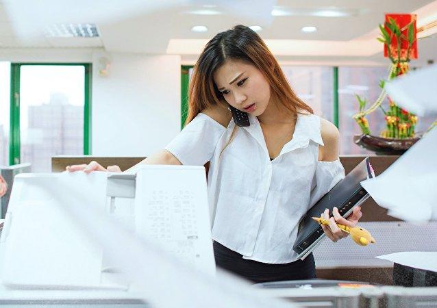 Une employée